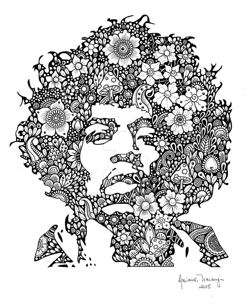 Jimi Hendrix by Ane73