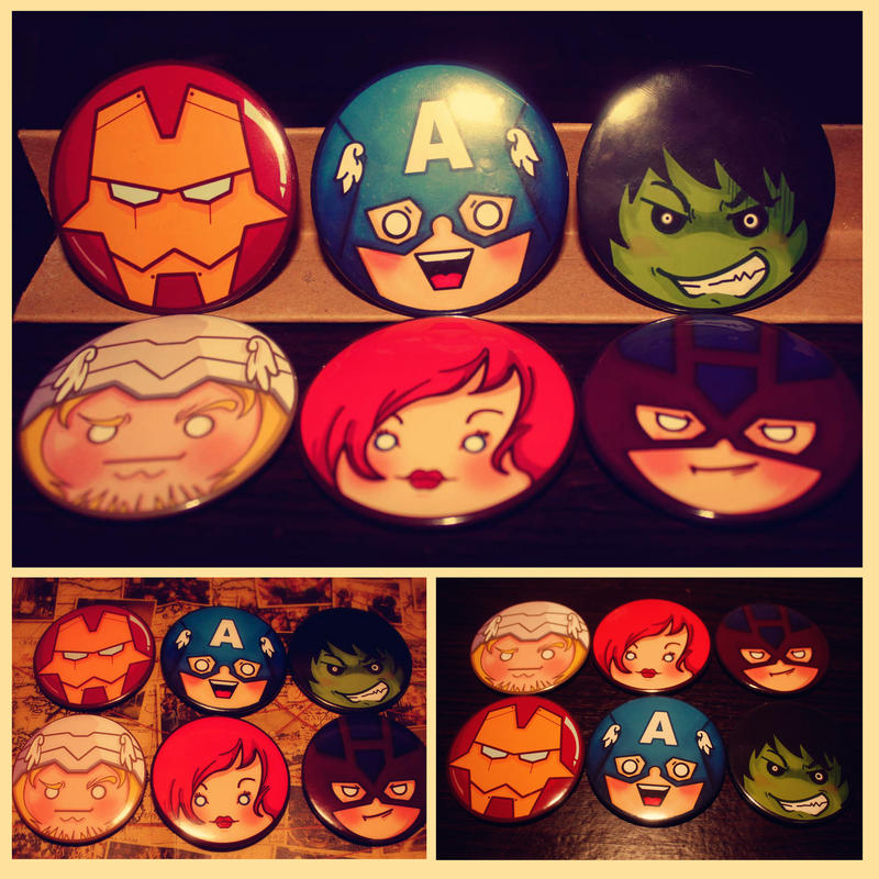 BUTTONS - The Avengers by JeZoNe