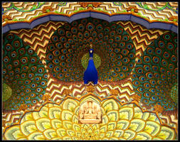 Peacock Door - India by Vladar