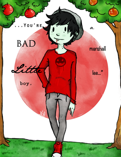 AT: You're A Bad Little Boy, Marshall Lee by spiderweb-heart