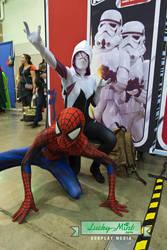 Spiderman and SpiderGwen