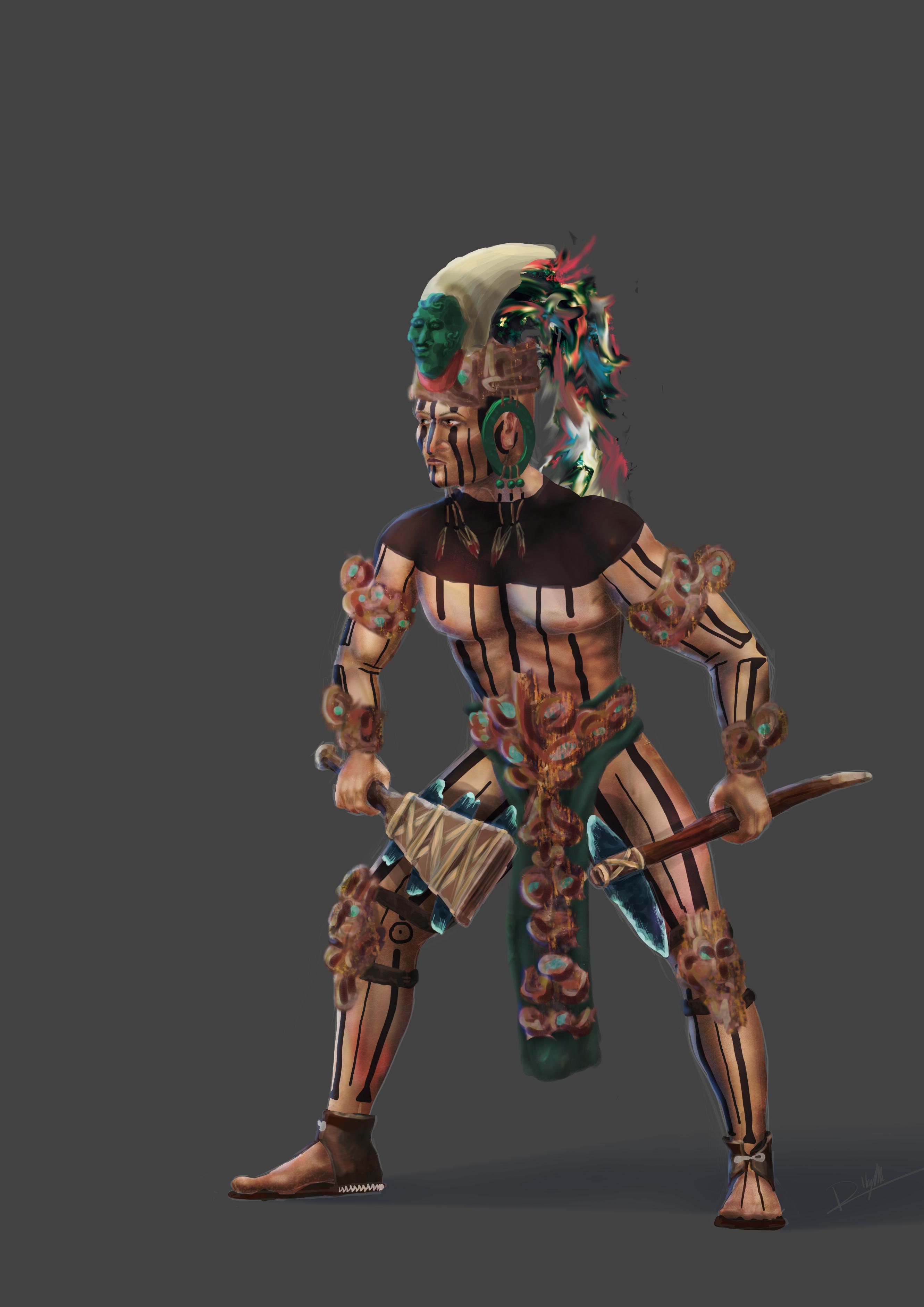 Mayan Warrior 002 Concept by CentificGrafics on DeviantArt