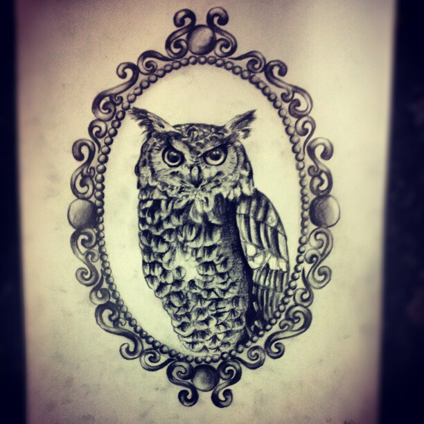 Cameo Owl by Ancora-Kimberley on DeviantArt