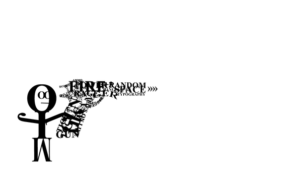 Typography Gun wallpaper