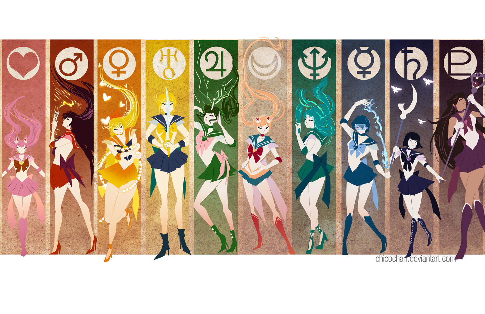 Sailor Senshi Simplify by JocelynAda on DeviantArt