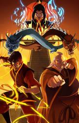 Firebending Masters by JocelynAda