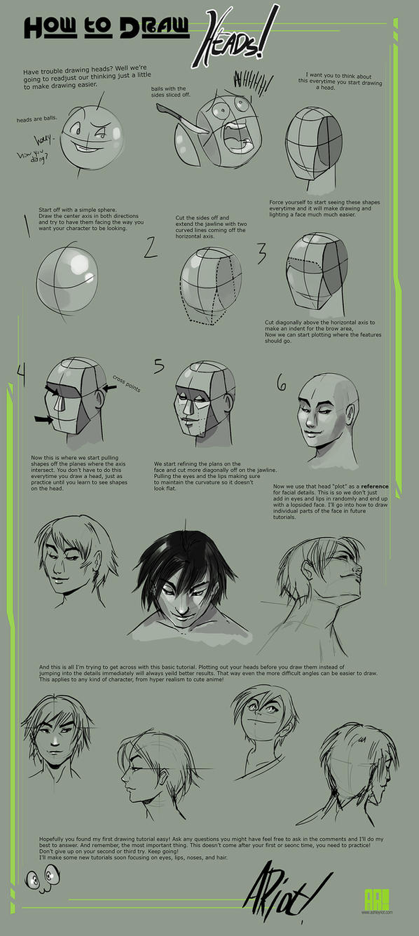 How to draw Heads by JocelynAda