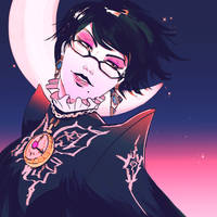 Bayonetta Crescent Moon by JocelynAda