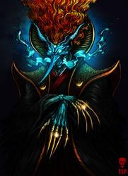 Tsukuyomi No Mikoto - God of Moon and Darkness by The-Last-Phantom