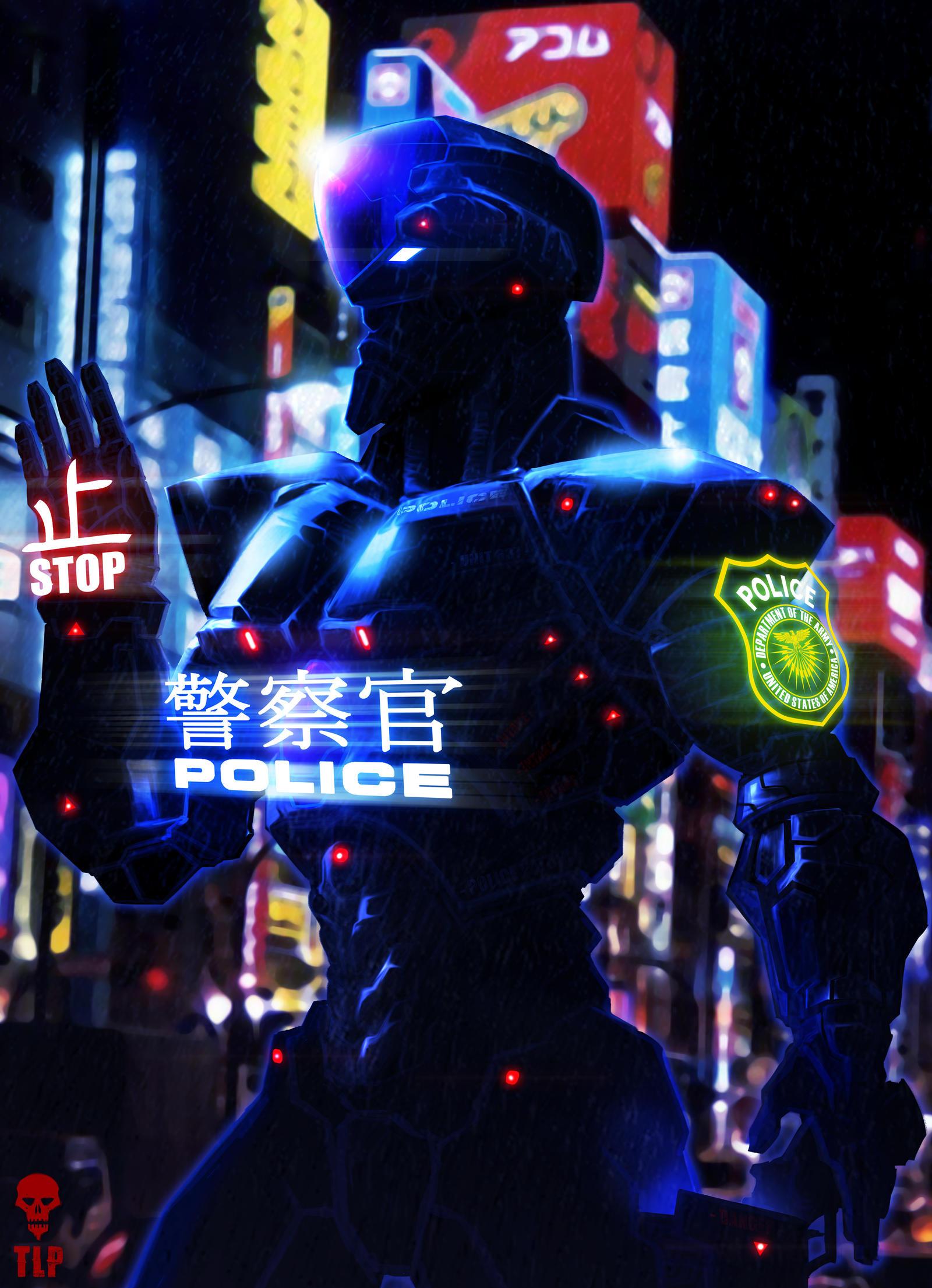 ADRIEL - Police Robot Enforcer by The-Last-Phantom