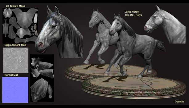 Large Horse 3D