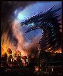 Dragon in a Burning village