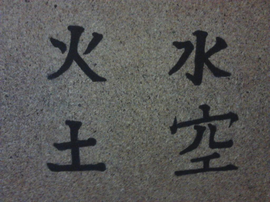 Fire Water Earth Air Kanji By Laxus Laxus On Deviantart
