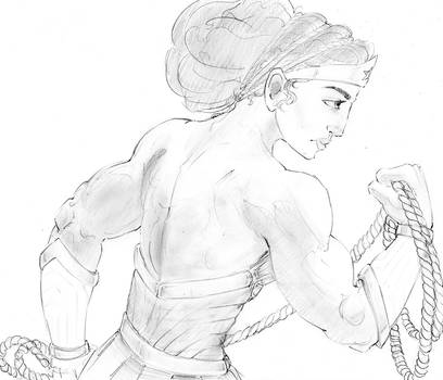 Wonder Woman Rough Sketch