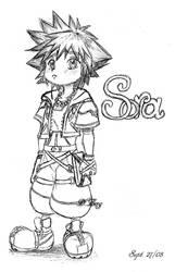Pouty Chibi Sora Sketch by Twinstar1