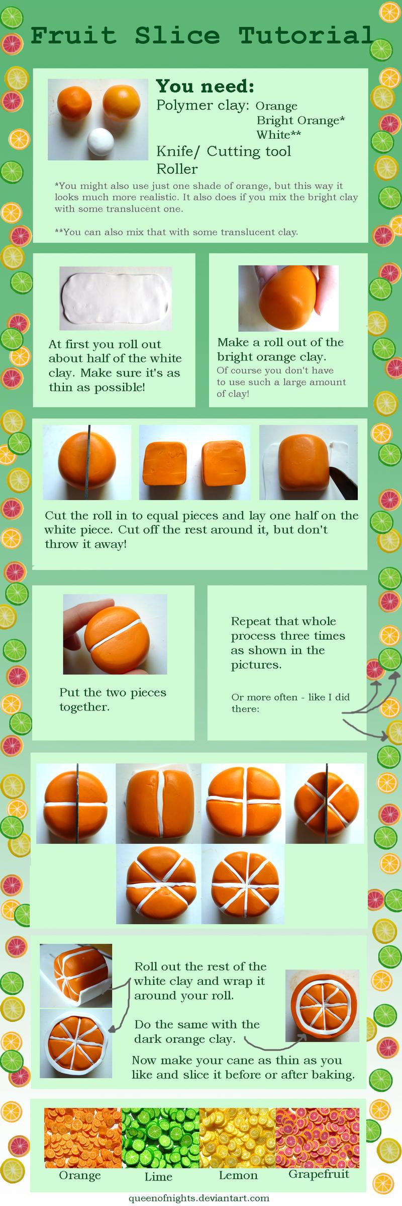 Fruit Slice Tutorial by QueEnOfNights