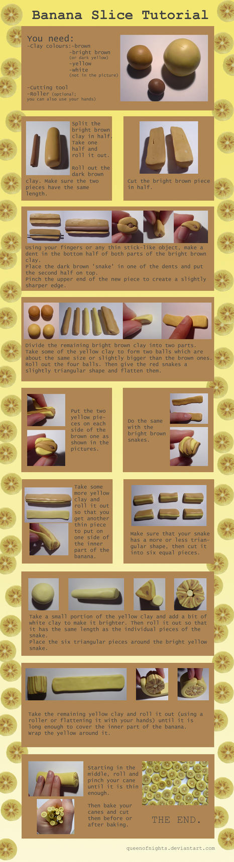 Banana Slice Tutorial by QueEnOfNights
