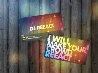 DJ Business Cards by fiyah-gfx
