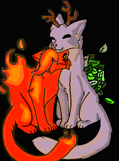 Warrior Cats Couple Base  By Musewings Dd35zvb-2 C
