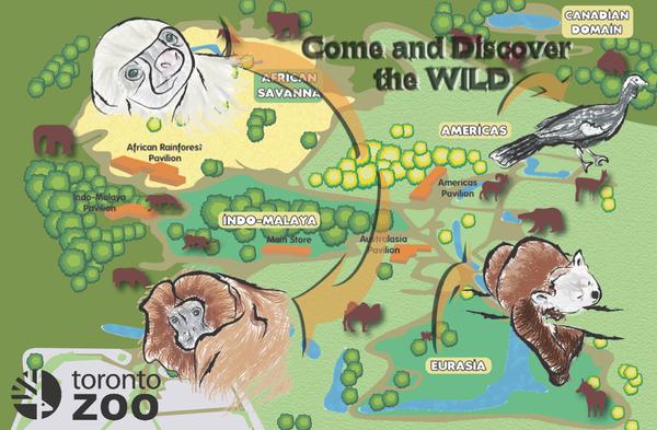 Toronto Zoo map by awazakito on DeviantArt  Toronto Zoo Map 2017