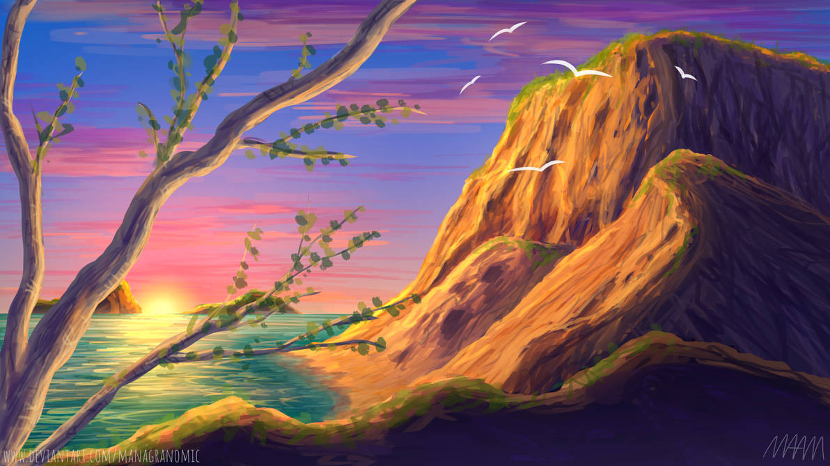 Sunset Coast by Managranomic
