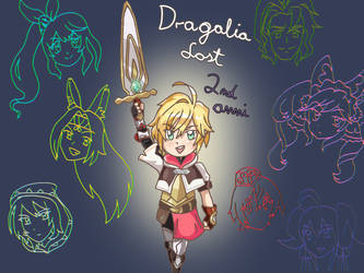 Dragalia 2nd Anniversary fanart 1