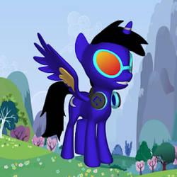 Dash Lunar alicorn form by PrinceDashLunar