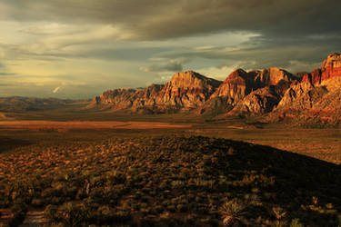 Spring Mountains at Dawn by Celem