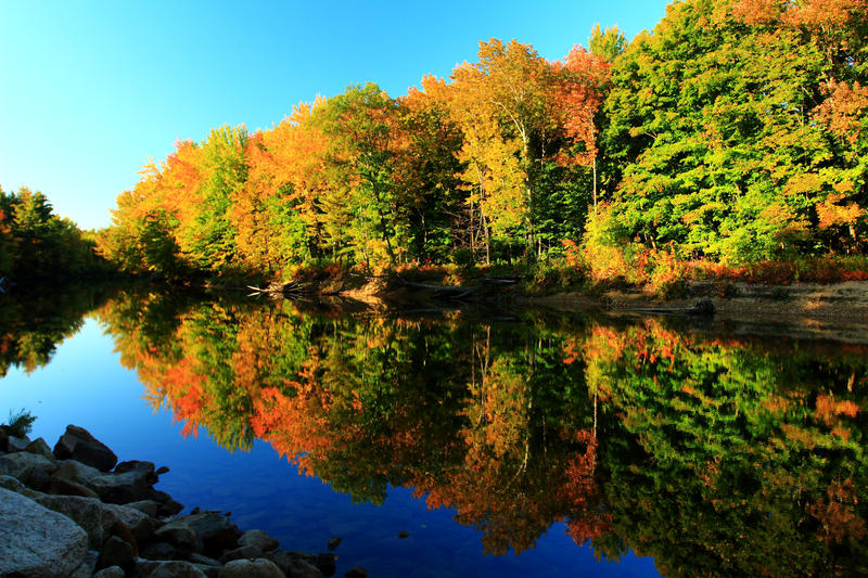 Stock: Saco River in Autumn by Celem