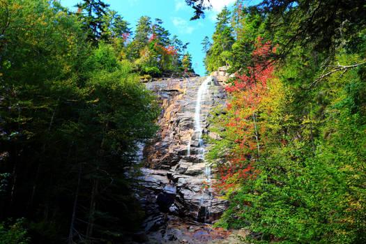 Stock: Arethusa Falls in Autumn
