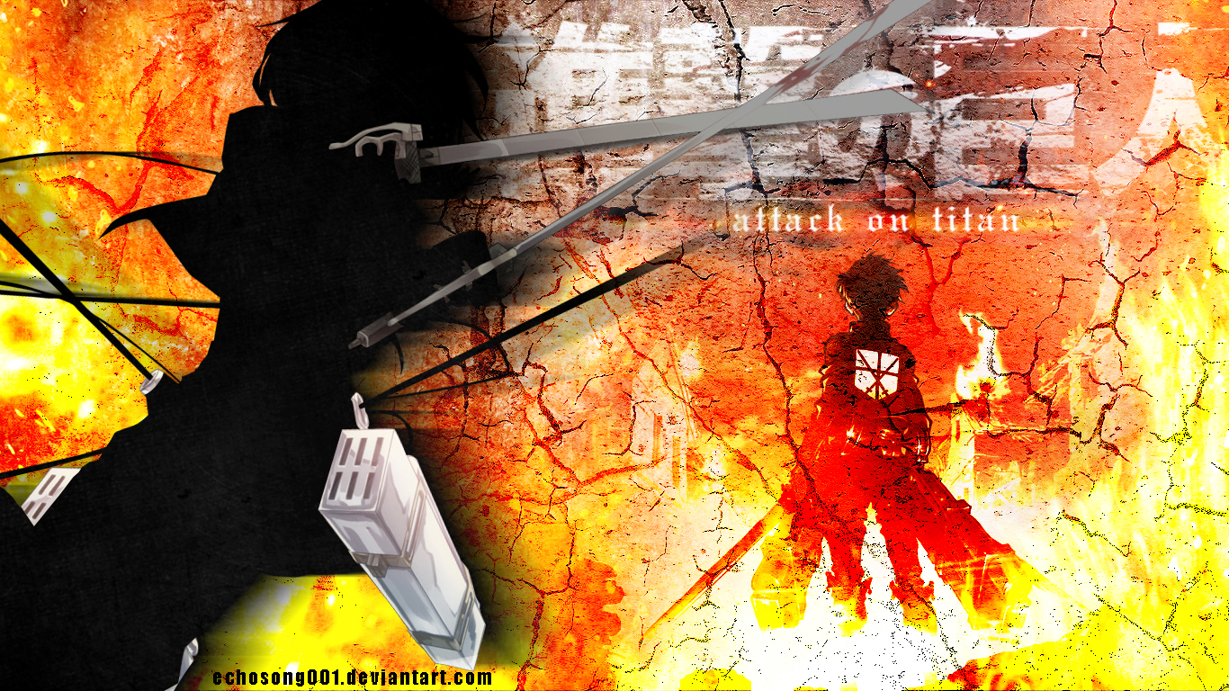 Attack On Titan Wallpaper I 1366x768 By Echosong001 On