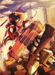 Mikasa ( Shingeki no Kyoshin ) by JL-Kira