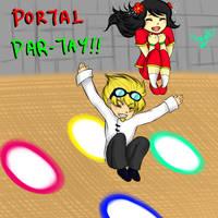 Yogscast Kim and Duncan: Portal Par-tay! by kuraikitsune13