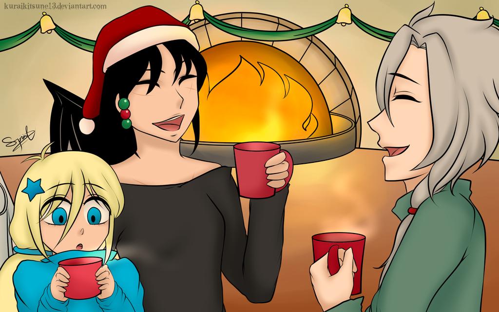 Xmas Art Gift Exchange 2k16: Hot Choc and Eggnogs. by kuraikitsune13