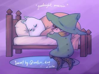 Moominvalley: goodnight, moomin. by kuraikitsune13