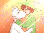Moominvalley - SnufMin: Sunset Kiss by kuraikitsune13