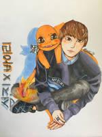 Seokjin X Charmander    BTS X Pokemon