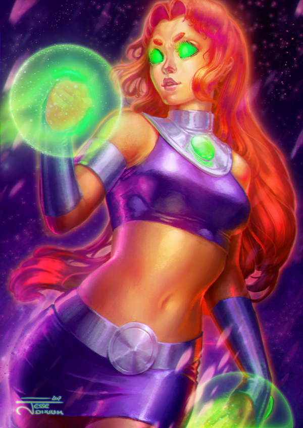 Starfire [TeenTitans Fan-Art] by Jesse-Dixium
