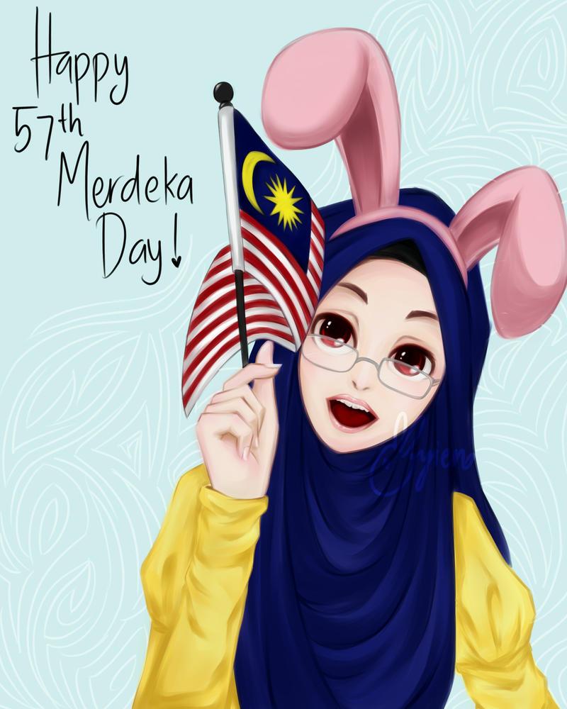 Bunnieme l Malaysia's 57th Merdeka Day by ayien-chan