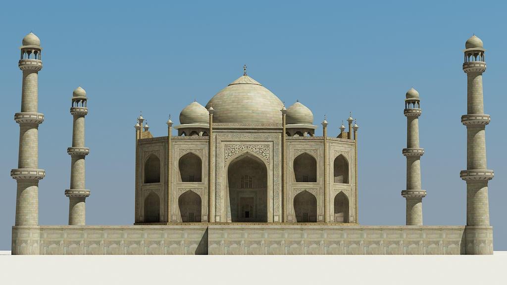 Taj Mahal 3d Image: Taj Mahal 3D Model By RenderHere By RenderHere On DeviantArt