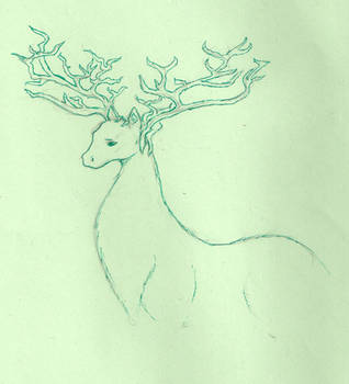 Stag-like creature