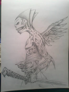 devil with sword