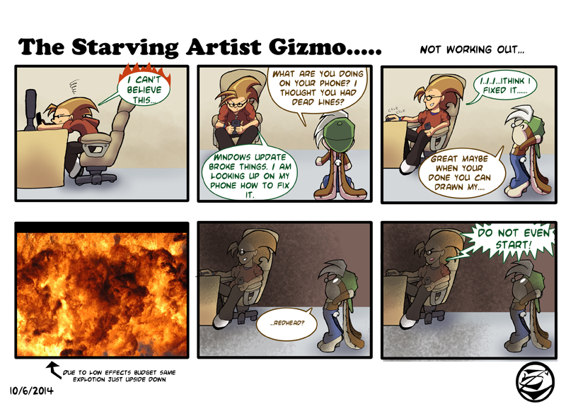The Starving Artist Gizmo: C3 44 by culdesackidz
