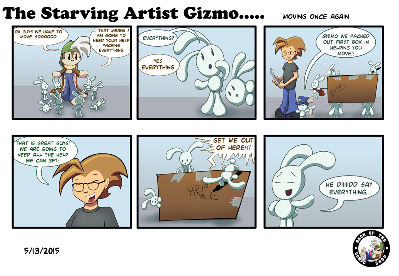 The Starving Artist Gizmo: C3 53 by culdesackidz