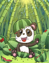 Panda With Watermelons!