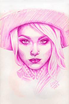 Teya Salat - pink ballpoint pen