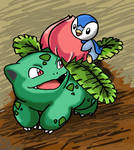 Ivysaur and Piplup