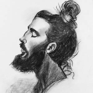 beard and bun