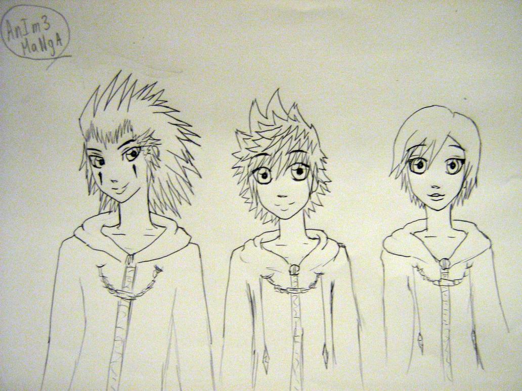 Axel,Roxas and Xion by AnIm3MaNgA