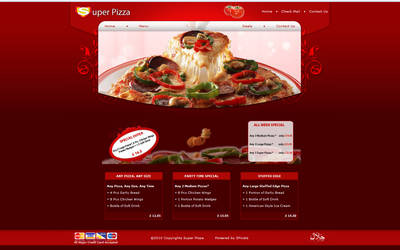 Super Pizza Web site by Shazy8